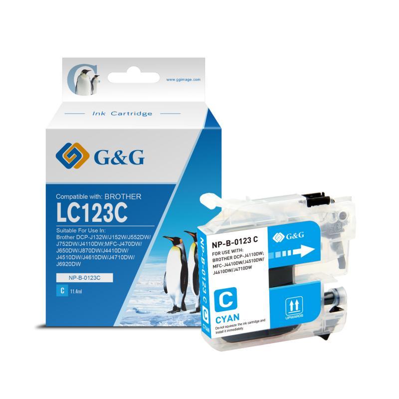 Brother Lc123 Azul PREMIUM