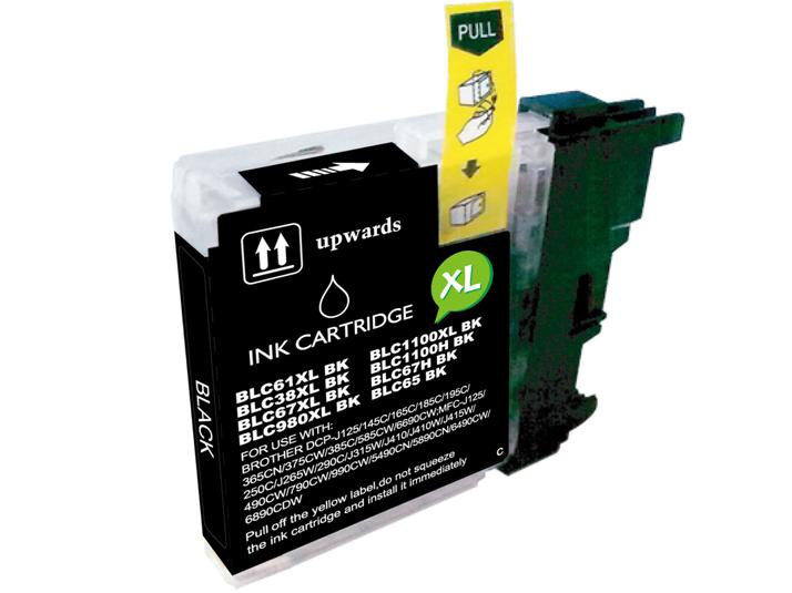 Brother Lc980/ Lc985/ Lc1100 Preto Alta Capacidade Compativel