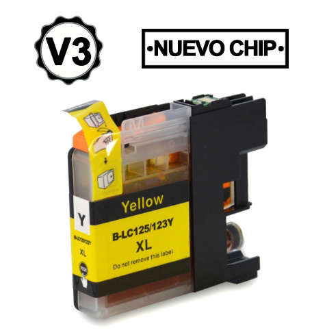 Brother Lc123 Amarelo Compativel