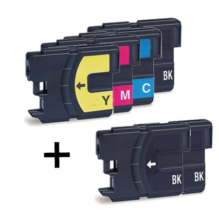 Pack 5 Brother Lc980/ Lc985/ Lc1100 - 2bk +1 Lc980 M+c+y Compativel