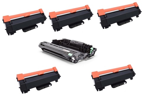 PACK 6 BROTHER: 5 X  TN2420 + DR2400 COMPATIVEL