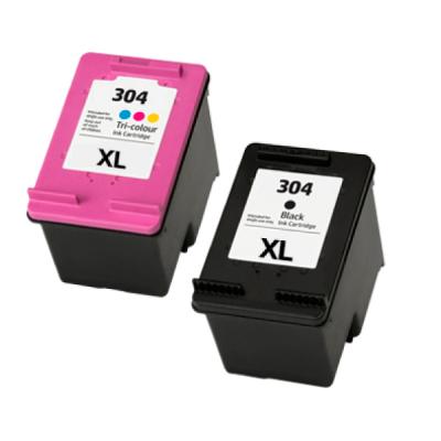 Pack HP304XLBK + HP304XL COR GENÉRICO.