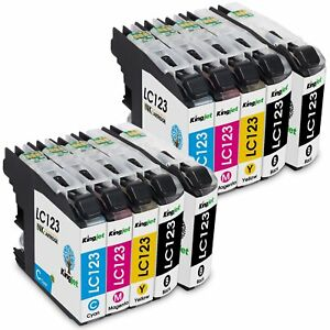 Brother Lc123 Pack 20 Unid. : Lc123bk X 8 Bk + 4 X Lc123 Cada Cor Compativel