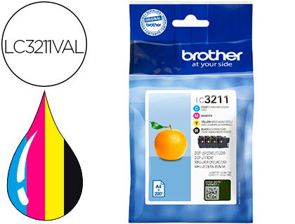 Brother Lc3211 Pack 1 Cada Cor