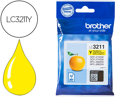 Brother Lc3211 Amarelo