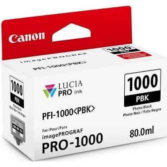 Canon Pfi1000 Preto Photo Tinta Pigmentada