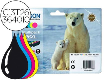 Epson T263640 - Pack 4 X T26xl - 1 Cada Cor