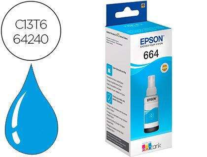 Epson T664240 Cyan Garrfa 100ml