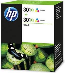 HP301XL COR -  Hpd8j46a- Pack Duplo Cores