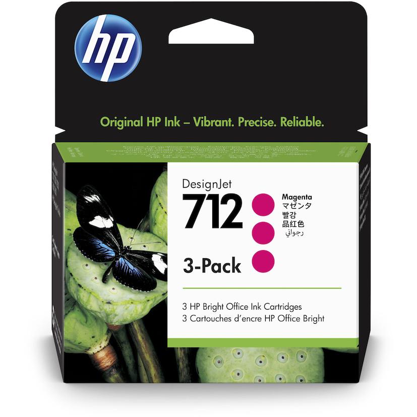 Hp712 Pack 3 Magenta - Hp3ed78a