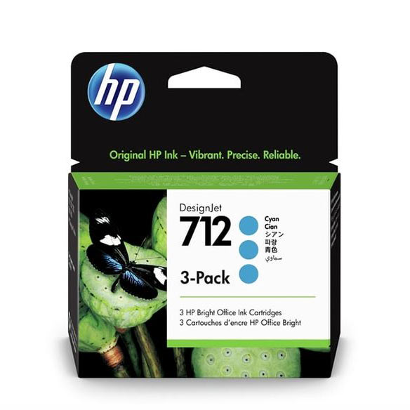 Hp712 Pack X 3 Azul - Hp3ed77a
