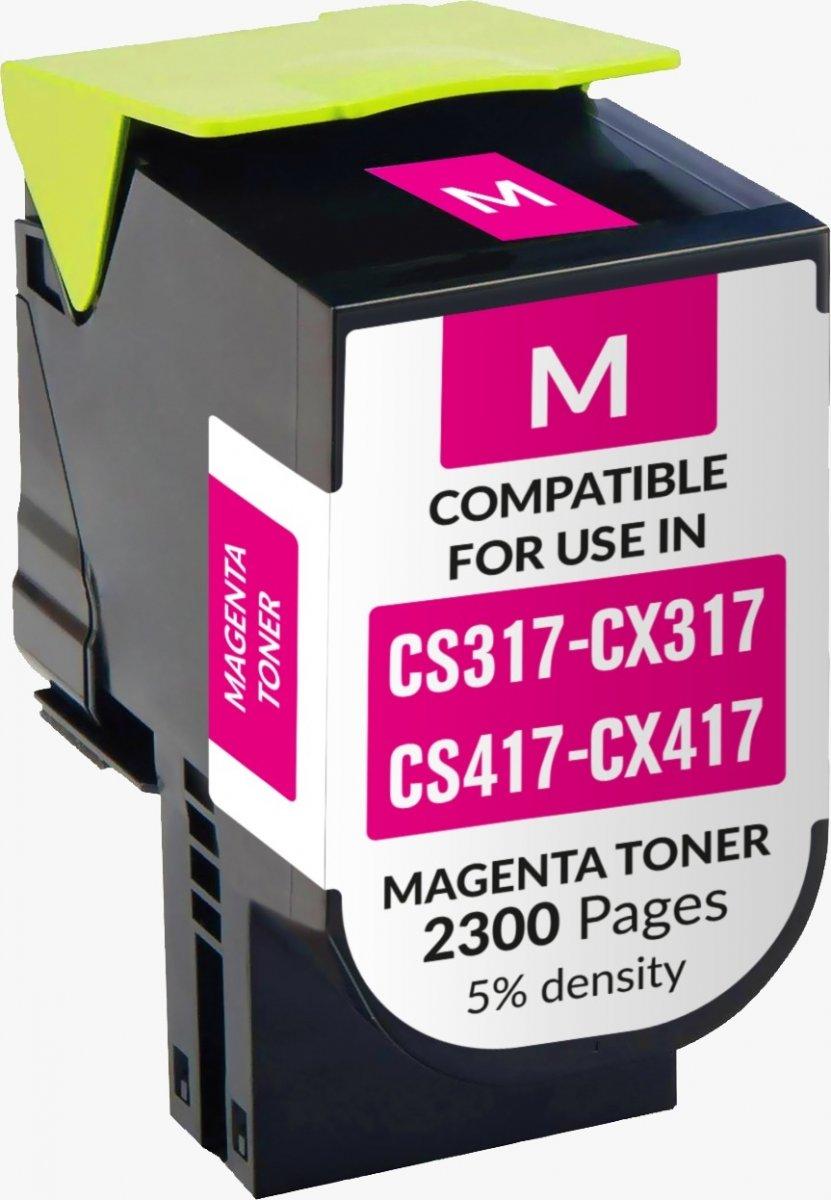 Lexmark Cs317/ Cx317/cs417/ Cx417/cs517/ Cx517 Magenta Toner Generico