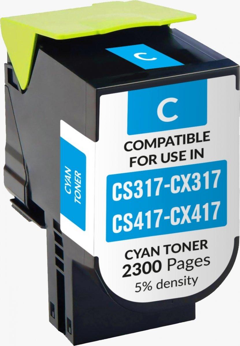 Lexmark Cs317/ Cx317/cs417/ Cx417/cs517/ Cx517 Azul Toner Generico