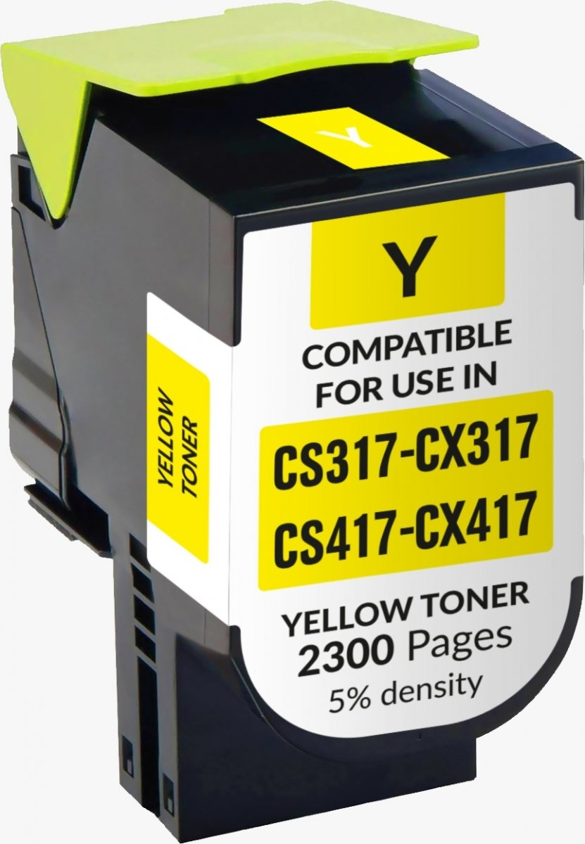 Lexmark Cs317/ Cx317/cs417/ Cx417/cs517/ Cx517 Amarelo Toner Generico